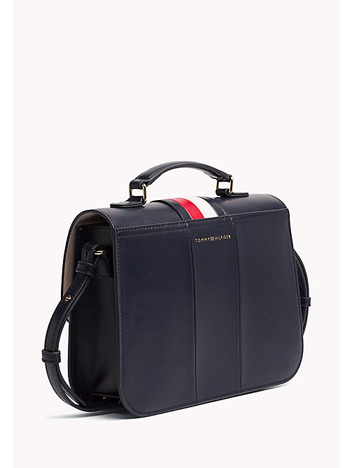 TOMMY HILFIGER Gestreiftes Leder-Satchel - CORPORATE CB - TOMMY HILFIGER Occasion Wear - main image 1
