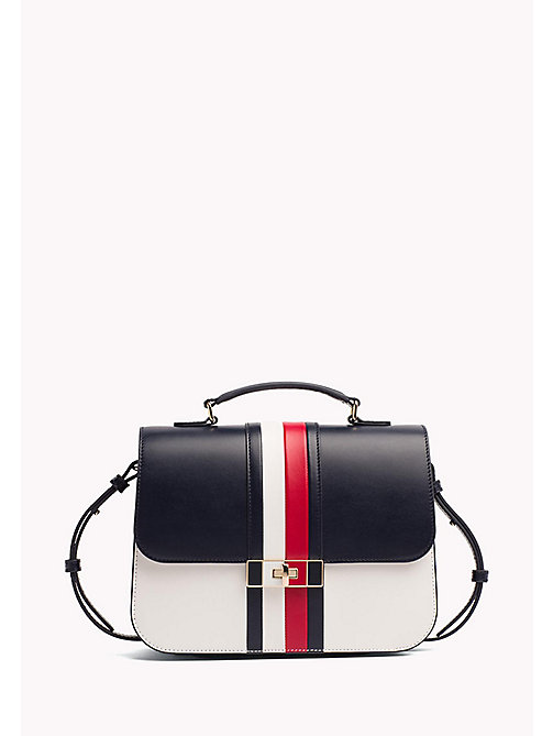 TOMMY HILFIGER Gestreiftes Leder-Satchel - CORPORATE CB - TOMMY HILFIGER Occasion Wear - main image