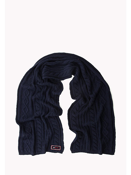 TOMMY HILFIGER Wool Blend Cable Mix Scarf - TOMMY NAVY - TOMMY HILFIGER Test 4 - detail image 1