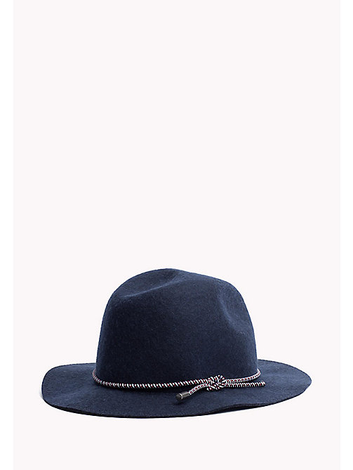 TOMMY JEANS Wool Fedora - TOMMY NAVY -  Women - detail image 1