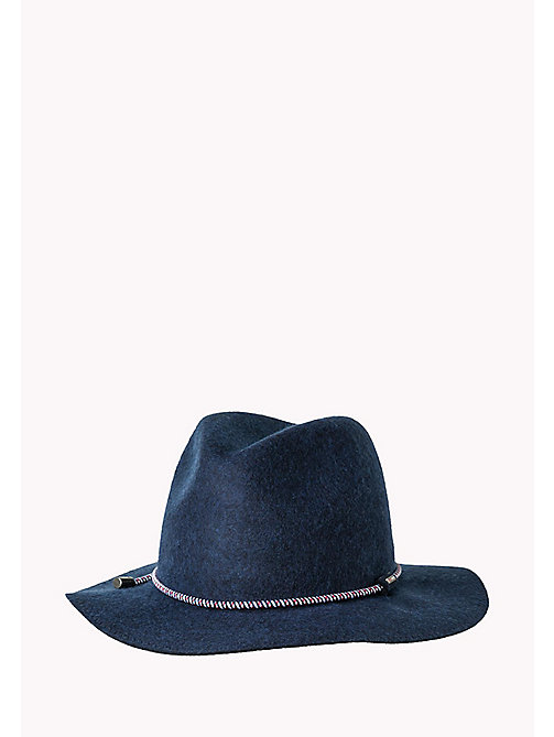 TOMMY JEANS Wool Fedora - TOMMY NAVY - TOMMY JEANS Bags & Accessories - main image