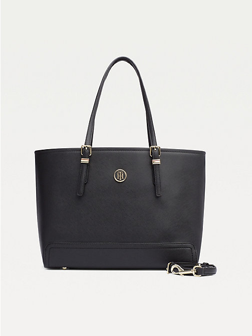 TOMMY HILFIGER Shopper met monogram - BLACK - TOMMY HILFIGER Shoppers - main image