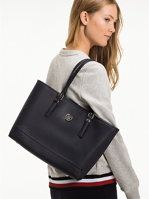 TOMMY HILFIGER Shopper met monogram - TOMMY NAVY - TOMMY HILFIGER Shoppers - detail image 1