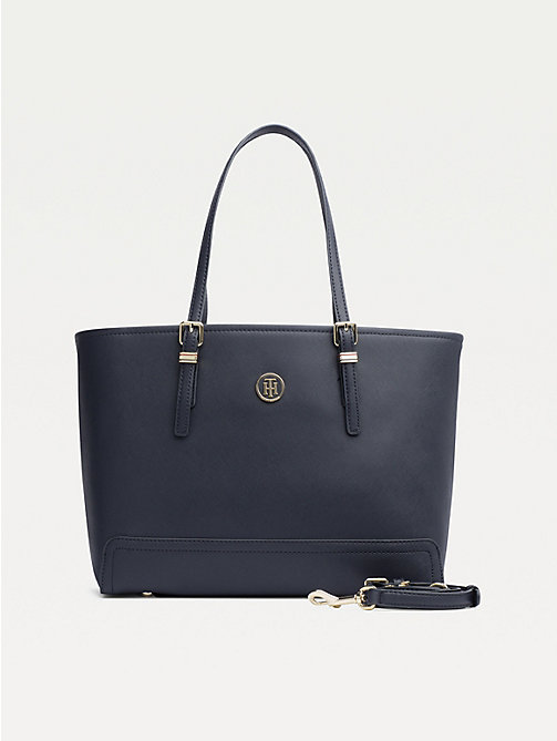 TOMMY HILFIGER Shopper met monogram - TOMMY NAVY - TOMMY HILFIGER Shoppers - main image