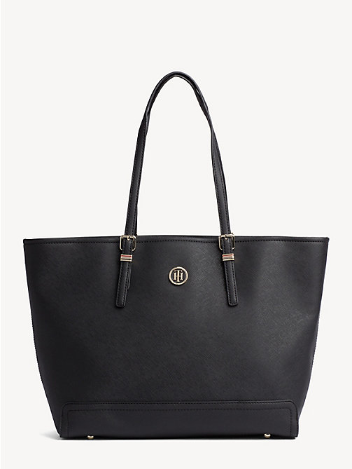 TOMMY HILFIGER Shopper met monogramlogo - BLACK - TOMMY HILFIGER Shoppers - main image