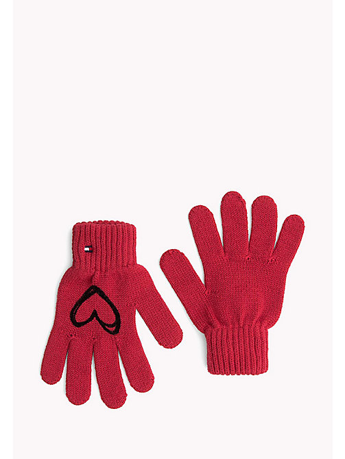 TOMMY HILFIGER Scribble Heart Gloves - SALSA - TOMMY HILFIGER Girls - main image