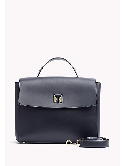 TOMMY HILFIGER Leather Satchel - TOMMY NAVY - TOMMY HILFIGER Bags & Accessories - main image