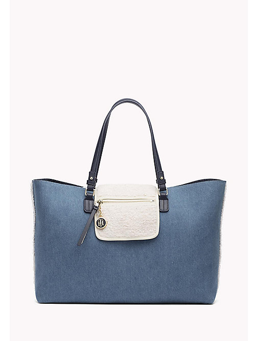 TOMMY HILFIGER Reversible Denim Tote Bag - DENIM - TOMMY HILFIGER Bags & Accessories - main image