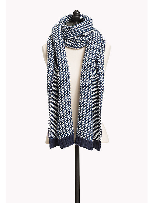 TOMMY JEANS Wool Blend Scarf - BLUE MIX - TOMMY JEANS Bags & Accessories - main image