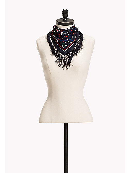 TOMMY HILFIGER Silk Scarf - TOMMY NAVY - TOMMY HILFIGER Women - main image