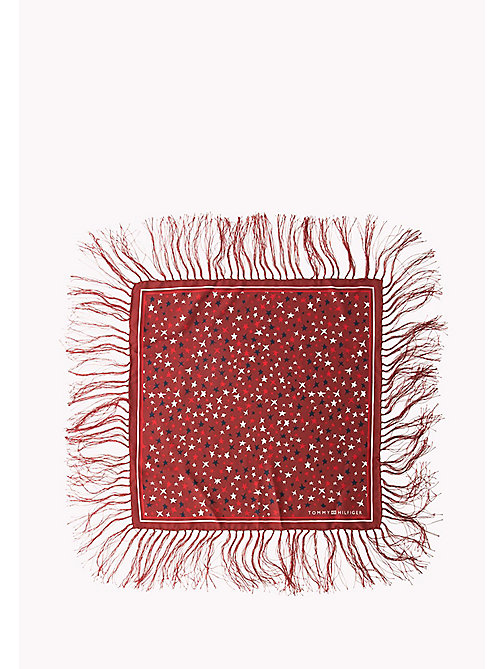 TOMMY HILFIGER Silk Scarf - 614-TOMMY RED - TOMMY HILFIGER Bags & Accessories - detail image 1