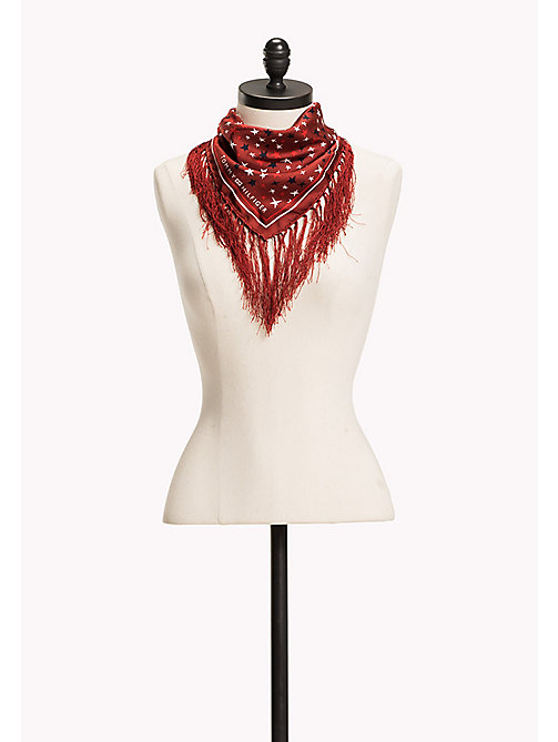 TOMMY HILFIGER Silk Scarf - 614-TOMMY RED - TOMMY HILFIGER Bags & Accessories - main image