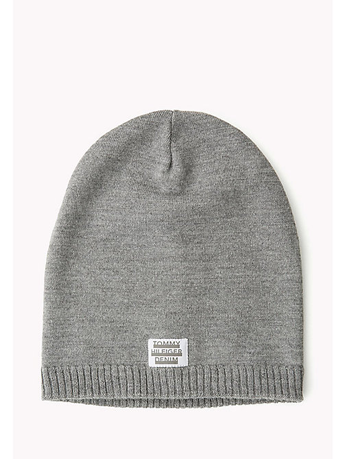 TOMMY JEANS Knit Beanie - GREY MELANGE? GREY MELANGE - TOMMY JEANS Bags & Accessories - main image