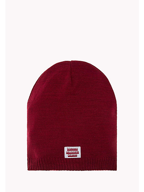 TOMMY JEANS Knit Beanie - CABERNET - TOMMY JEANS Bags & Accessories - main image