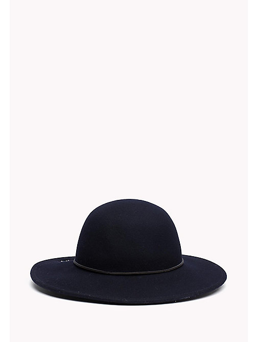 TOMMY HILFIGER Embroidered Flowers Wool Fedora - TOMMY NAVY - TOMMY HILFIGER Women - detail image 1