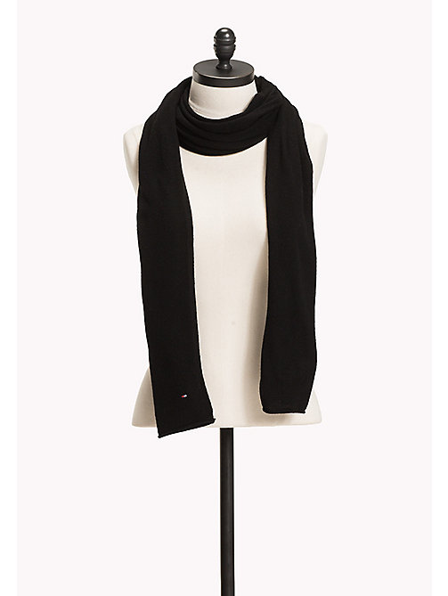 TOMMY HILFIGER Knit Scarf - BLACK - TOMMY HILFIGER Bags & Accessories - main image