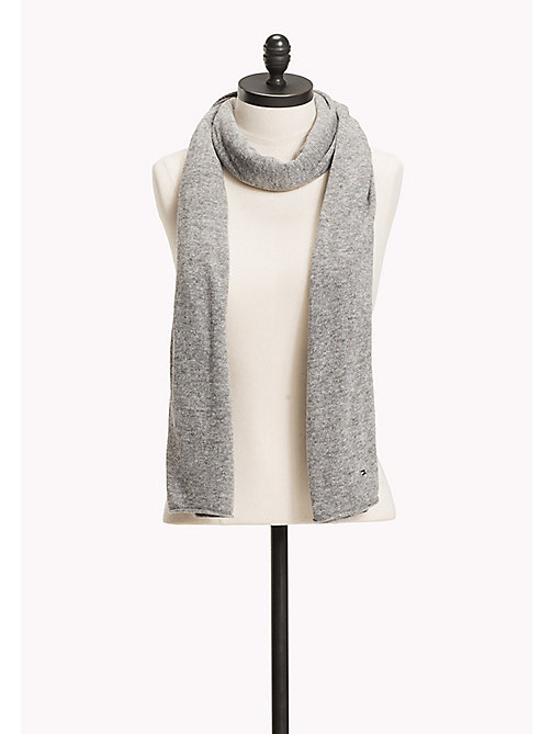 TOMMY HILFIGER Knit Scarf - 039-LIGHT GREY HEATHER - TOMMY HILFIGER Bags & Accessories - main image