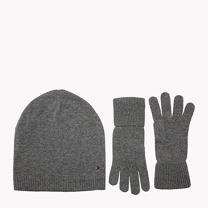 TOMMY HILFIGER Gloves and Beanie Gift Pack - TOMMY NAVY - TOMMY HILFIGER Women - main image