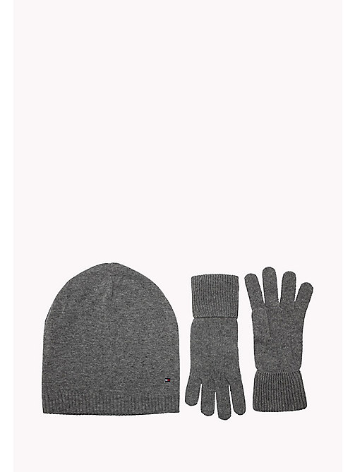 TOMMY HILFIGER Gloves and Beanie Gift Pack - LIGHT GREY HEATHER BC04 - VOL39 - TOMMY HILFIGER Bags & Accessories - main image
