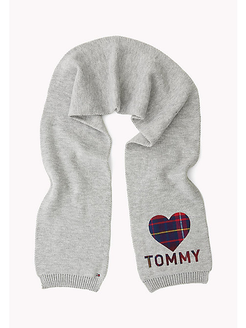 TOMMY HILFIGER Heart Scarf - GREY & CORP CHECK - TOMMY HILFIGER Girls - main image