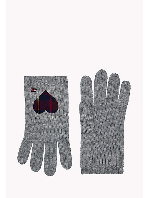 TOMMY HILFIGER Heart Gloves - GREY & CORP CHECK - TOMMY HILFIGER Girls - main image