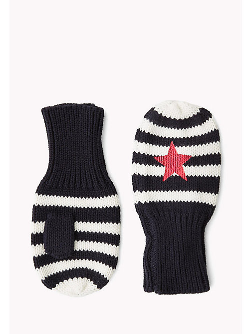 TOMMY HILFIGER Star Mittens - BLACK&WHITE STRIPES - TOMMY HILFIGER Girls - main image