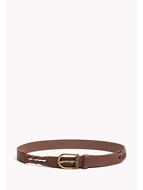 TOMMY JEANS Leather Belt - COGNAC - TOMMY JEANS Women - main image