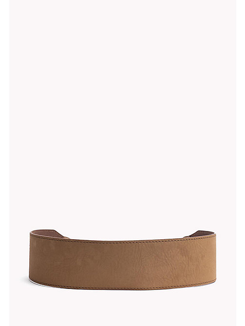 TOMMY JEANS Leather Waist Belt - TAN - TOMMY JEANS Bags & Accessories - detail image 1
