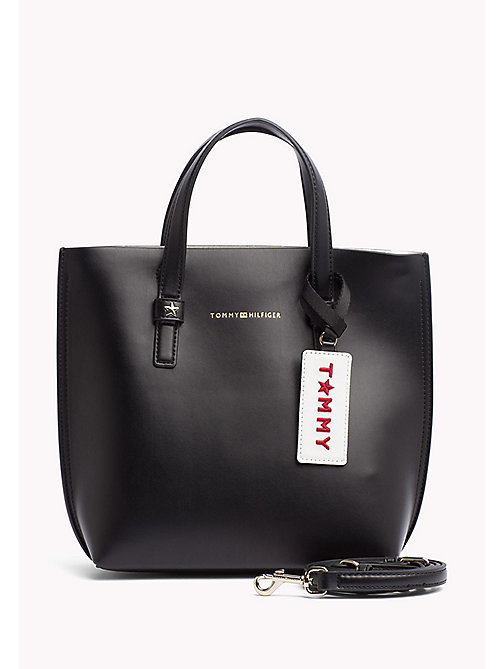 TOMMY HILFIGER Small Crossover Tote Bag - BLACK - TOMMY HILFIGER Bags - main image