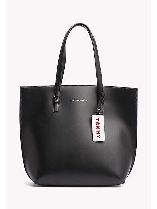 TOMMY HILFIGER Large Tote Bag - BLACK - TOMMY HILFIGER Bags - main image
