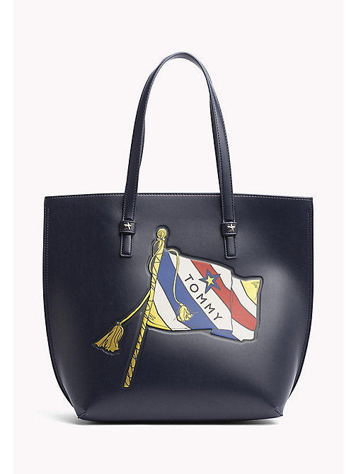 TOMMY HILFIGER Duża torba typu tote - FLAG PRINT - TOMMY HILFIGER Torby - main image
