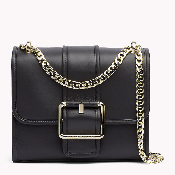 TOMMY HILFIGER Buckle Leather Crossover Bag - HEATHER MIX - TOMMY HILFIGER Women - main image
