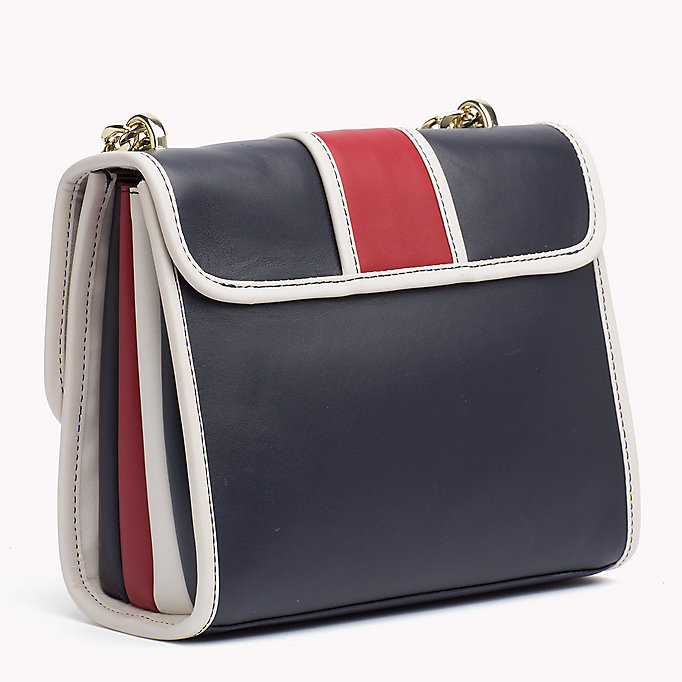 TOMMY HILFIGER Buckle Leather Crossover Bag - BLACK - TOMMY HILFIGER Women - detail image 1