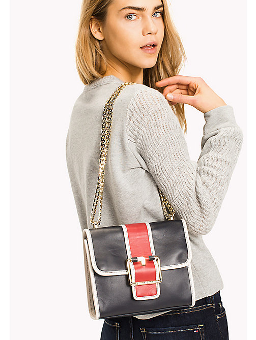 TOMMY HILFIGER Buckle Leather Crossover Bag - CORP MIX - TOMMY HILFIGER Bags & Accessories - detail image 1