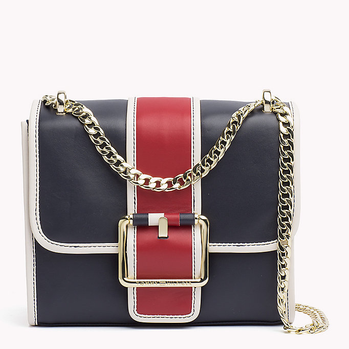 TOMMY HILFIGER Buckle Leather Crossover Bag - BLACK - TOMMY HILFIGER Women - main image