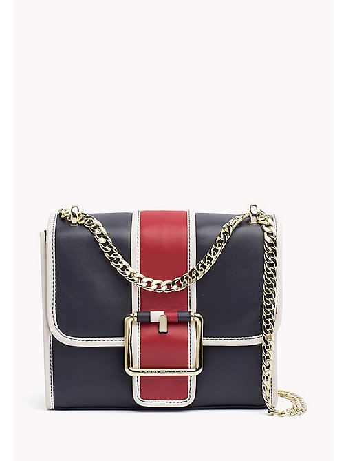 TOMMY HILFIGER Buckle Leather Crossover Bag - CORP MIX - TOMMY HILFIGER Bags & Accessories - main image