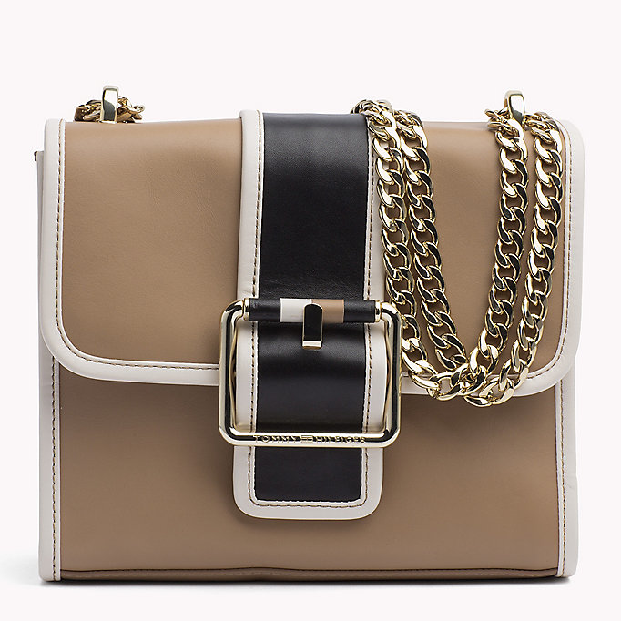 TOMMY HILFIGER Buckle Leather Crossover Bag - CORP MIX - TOMMY HILFIGER Women - main image