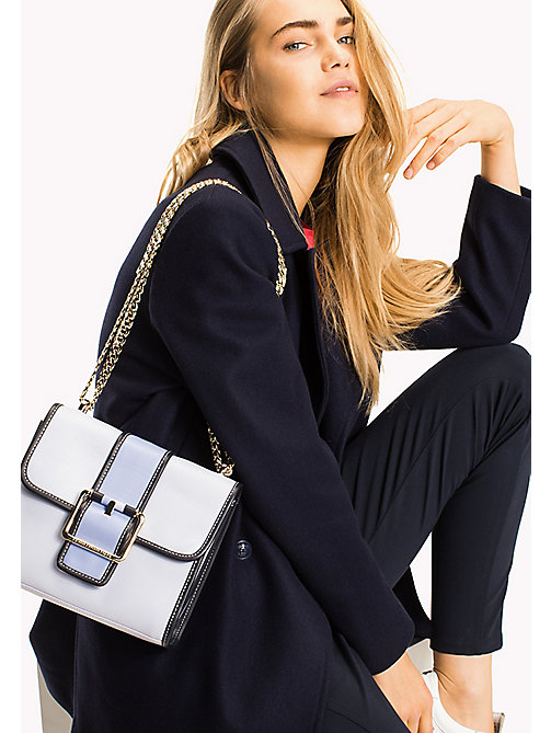 TOMMY HILFIGER Crossover-Bag aus Leder - HEATHER MIX - TOMMY HILFIGER Crossover Bags - main image 1