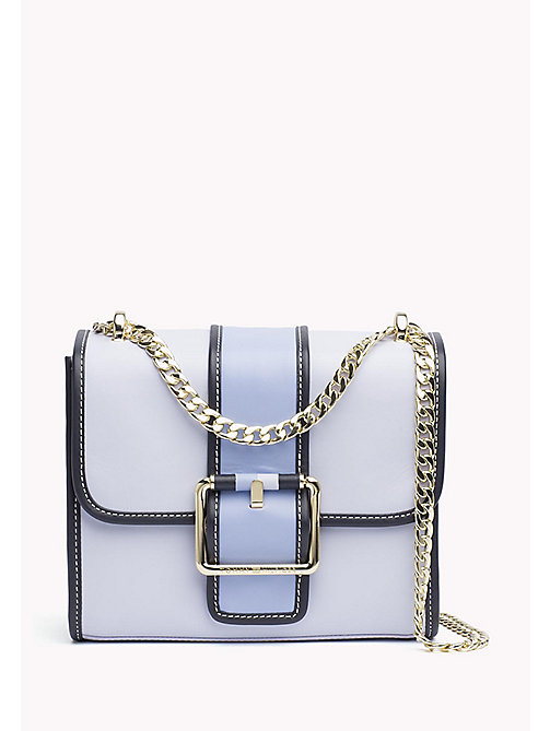 TOMMY HILFIGER Buckle Leather Crossover Bag - HEATHER MIX - TOMMY HILFIGER Bags & Accessories - main image