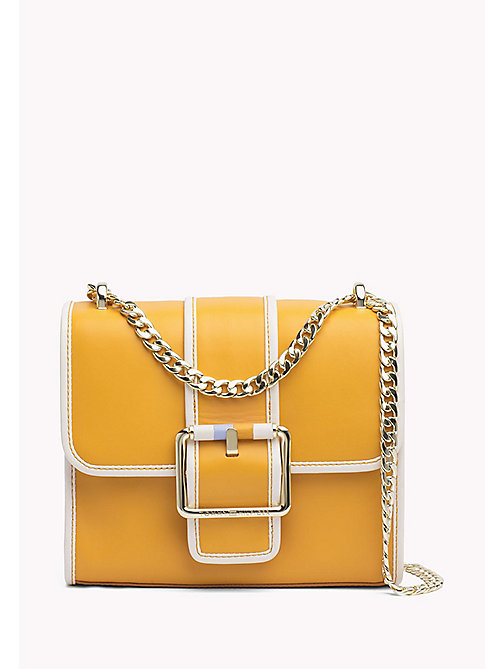 TOMMY HILFIGER Buckle Leather Crossover Bag - ORANGE MIX - TOMMY HILFIGER Crossbody Bags - main image