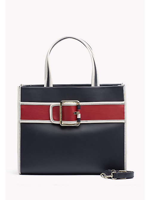 TOMMY HILFIGER Leather Tote Bag - CORP MIX - TOMMY HILFIGER Tote Bags - main image