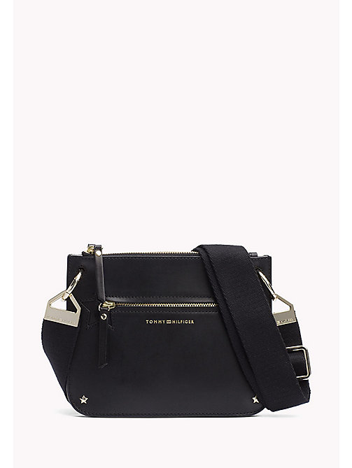TOMMY HILFIGER Star Studded Leather Crossover Bag - BLACK - TOMMY HILFIGER Bags - main image