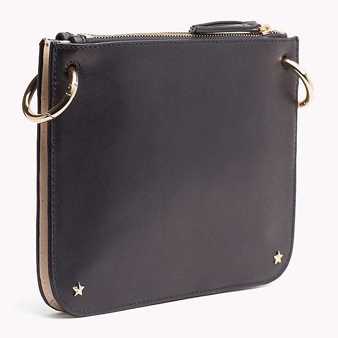 TOMMY HILFIGER Star Studded Leather Crossover Bag - BLACK - TOMMY HILFIGER Women - detail image 1