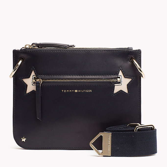 TOMMY HILFIGER Star Studded Leather Crossover Bag - BLACK - TOMMY HILFIGER Women - main image
