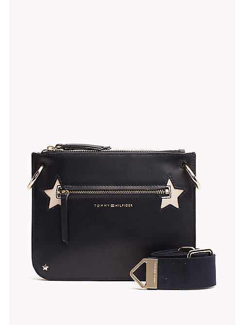 TOMMY HILFIGER Star Studded Leather Crossover Bag - TOMMY NAVY/ TURTLEDOVE - TOMMY HILFIGER Clutch Bags - main image