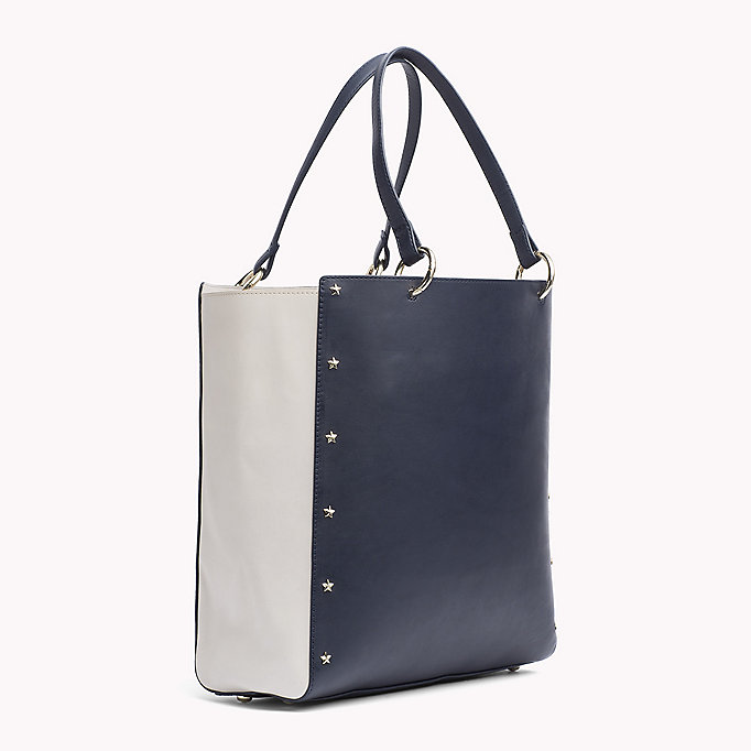 TOMMY HILFIGER Star Studded Leather Tote Bag - BLACK - TOMMY HILFIGER Women - detail image 1