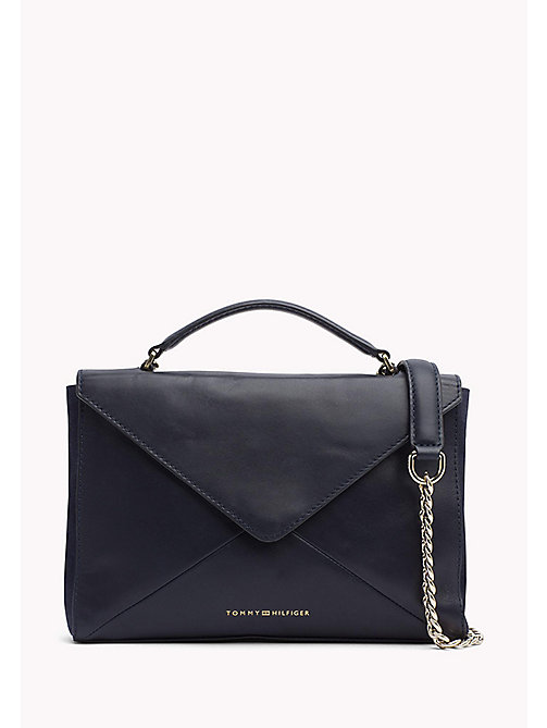 TOMMY HILFIGER Leather Clutch Crossover - TOMMY NAVY - TOMMY HILFIGER Bags - main image