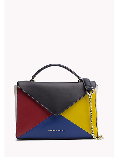 TOMMY HILFIGER Leren clutch crossover bag - COLOUR MIX - TOMMY HILFIGER Tassen - main image