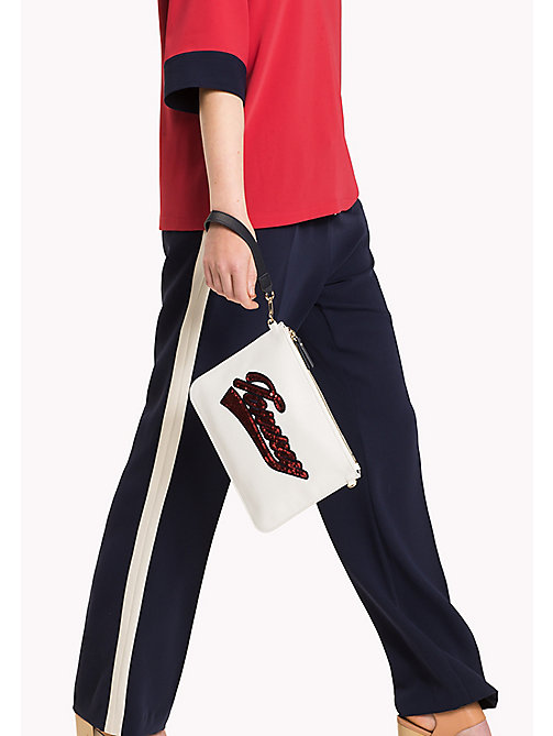 TOMMY HILFIGER Mix 'n' Match Canvas Clutch - SNOW WHITE - TOMMY HILFIGER Gifts for Her - detail image 1