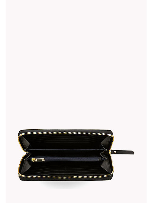 TOMMY HILFIGER Studded Leather Zip-Around Wallet - BLACK - TOMMY HILFIGER Wallets & Keyrings - detail image 1